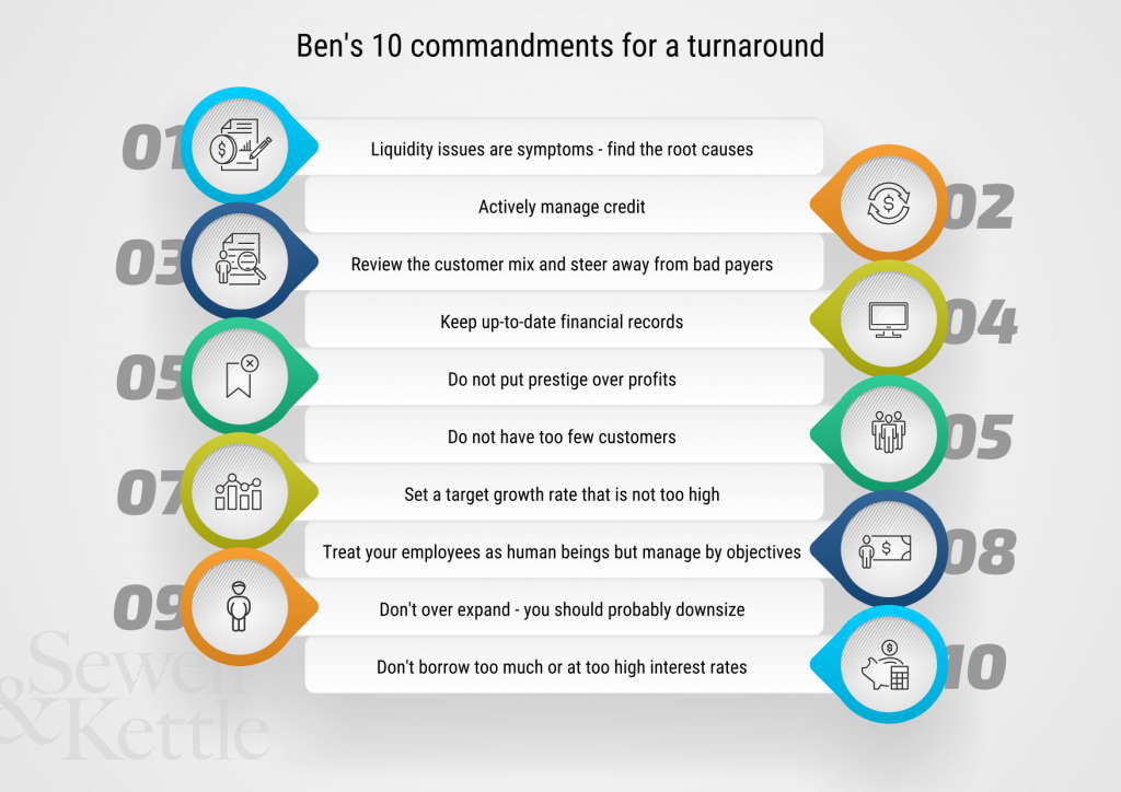 10 commandments for a turnaround