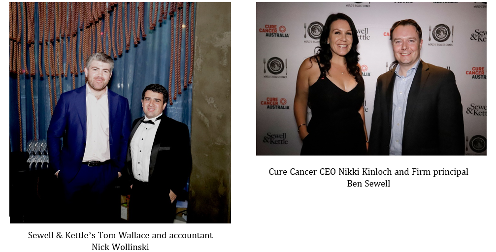 Cure Cancer charity dinner
