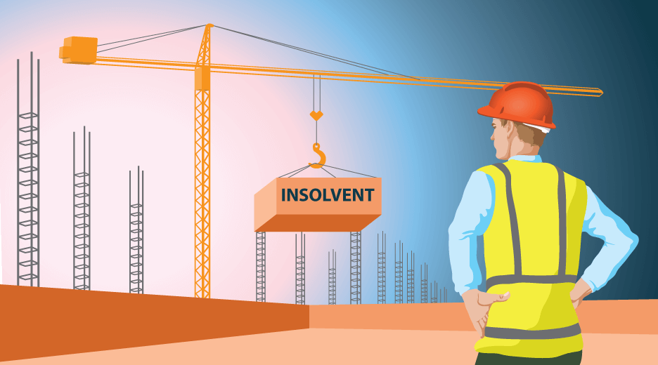 When is a construction company insolvent?