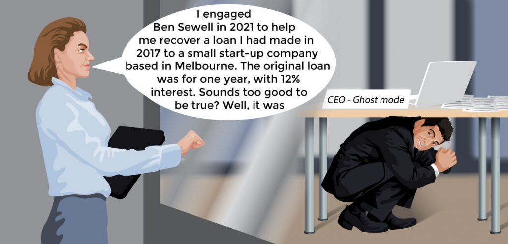 Recovering a loan from the ghost CEO case study